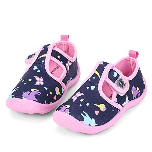nerteo Boys Girls Cute Aquatic Water Shoes | Rainbow, Dinasour, Unicorn, Shark | Toddler/Little Kid Size: M Toddler