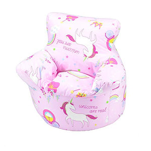Unicorn bean bag chair pink