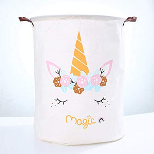 Floral Unicorn Laundry Basket | Storage Bin | Toy Organiser