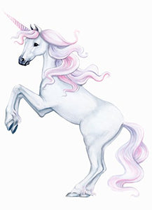 Unicorn wall sticker silver white