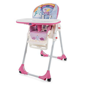 Unicorn Light Travel Highchair With Wheels - Chicco