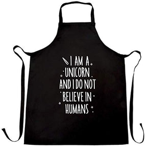 I'm A Unicorn Chefs Apron | Black One Size | Men's & Women Gift Idea