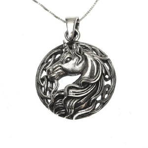 Sterling Silver 925 Unicorn Pendant Necklace