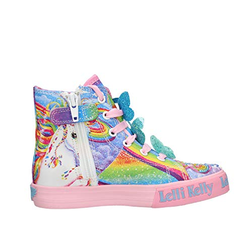 Unicorn girls Lelli Kelly pink Hi Top Trainer