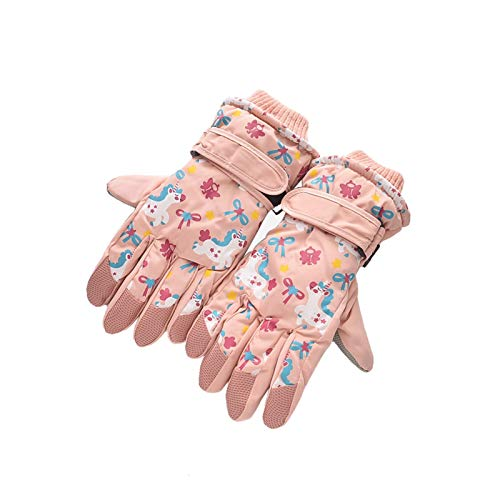 Winter Unicorn Gloves | Girls Boys | Plush Skiing Mittens | Waterproof