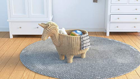 Handmade Rattan Unicorn Storage Basket | Decorative Centrepiece For Children's Room or Nursery