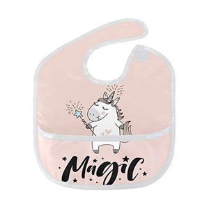 Unicorn Magic Waterproof Bib Pink