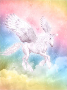 Poster 30 x 40 cm: Unicorn Pegasus - Big Dreams by Dolphins DreamDesign - high quality art print, new art poster