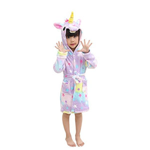 Comfy & Soft Unicorn Hooded Unicorn Robe Dressing Gown For Girls | Multicoloured