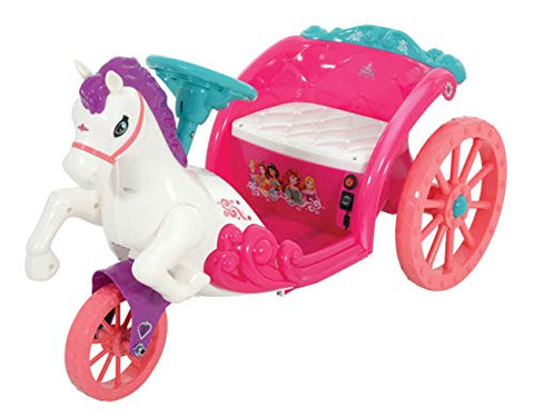 Disney Princess Unicorn Horse & Carriage | Electric Ride On Toy 6v Battery Powered