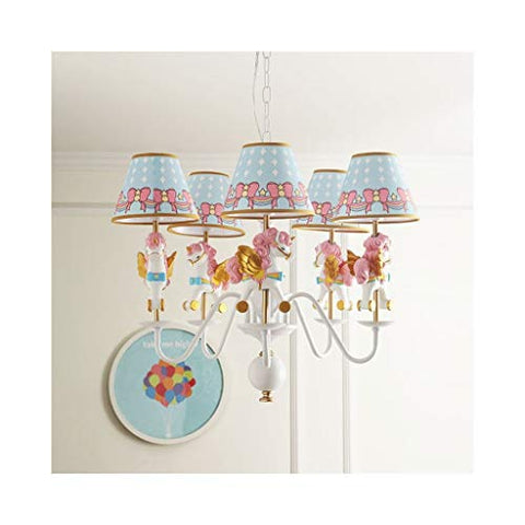 Unicorn Chandelier Carousel Light Pink, Blue, Gold