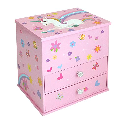 Unicorn Jewellery Box With Drawers