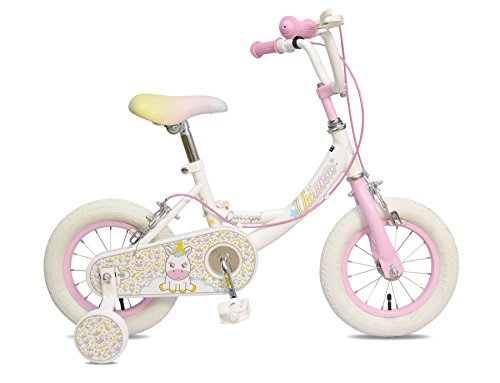 "Unicorn 12"" Cute Girls Bike For 3-5 Year Old"