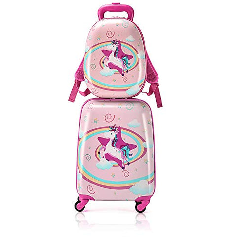 Unicorn suitcase set