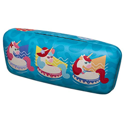 Holiday unicorns sunglasses case