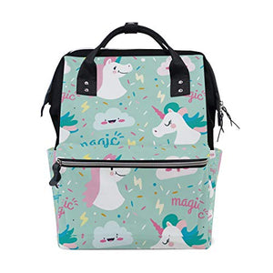 Mint Green Unicorn Nappy Changing Bag