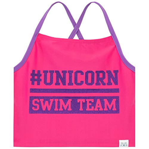 Harry Bear Girls Unicorn Swimsuit Pink