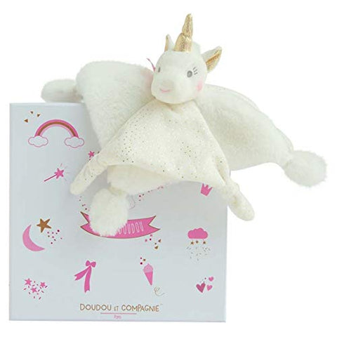 Unicorn Cuddly Blanket | Comforter | Doudou et Compagnie | Gift Box
