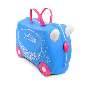 Trunki Children's Ride-On Suitcase: Pearl Princess Carriage (Blue)