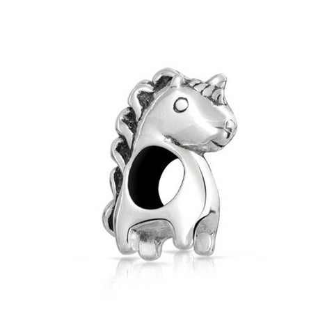 Mythical Unicorn Charm Bead | 925 Sterling Silver | Fits European Bracelet