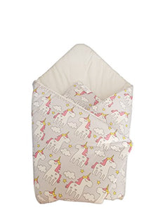 Unicorn Swaddle Wrap Blanket For Car Seat | Sleeping Bag | Newborn 0-3m | ( 78 x 78 cm )