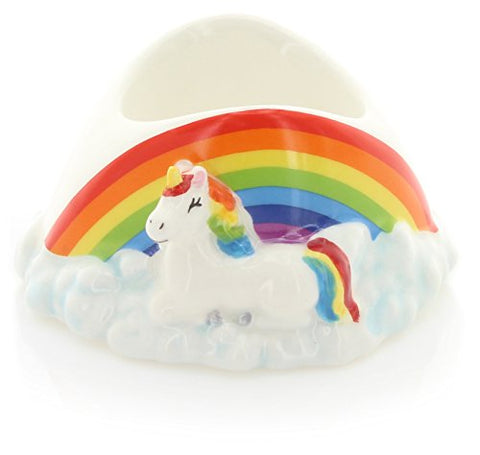 Puckator Unicorn & Rainbow Egg Cup | Ceramic