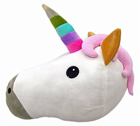 HENGSONG Unicorn Pillow Emoji Head Shaped Soft Plush Cushion Pillow Filled Toys