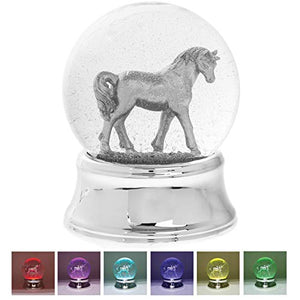 Silver Unicorn LED Water Globe | Ornament