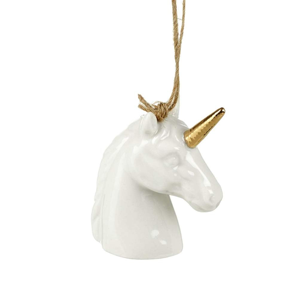 Hanging Unicorn Head Christmas Tree Decoration
