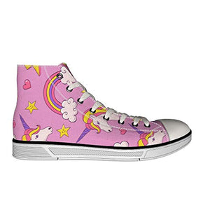 Pink unicorn rainbow trainers