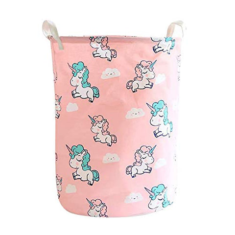 Pink Unicorn Toy Laundry Storage Basket