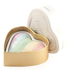 Unicorn make up revolution highlighter. Rainbow hues, sheen shimmer colour.