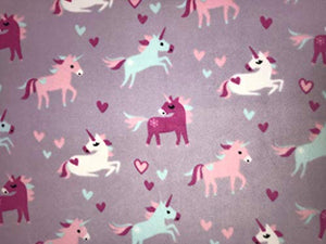 Unicorn Children's Prints | Soft Washable Fabric | Sold by Metre | Lilac