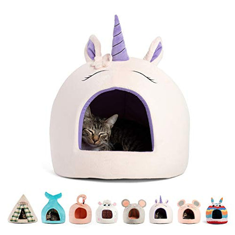 Unicorn Cat & Dog Bed For Pets Up to 12 lbs