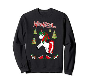 Christmas Unicorn Sweater | Merrycorn Unicorn Lovers Xmas Gift Sweatshirt