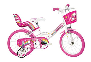 Kids Unicorn Bike Pink & White