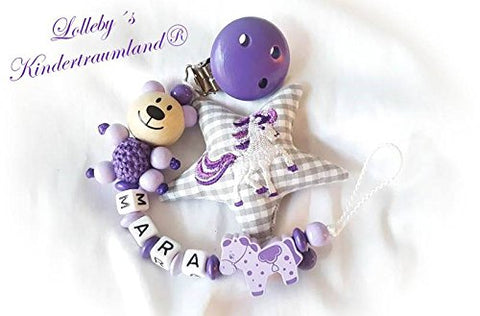 Personalised Unicorn Dummy Chain, ideal baby present, baby shower.