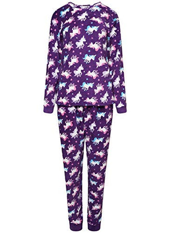 unicorn pyjamas ladies purple