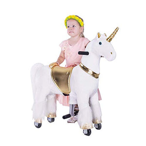 Gidygo Ride On Pony Walking Unicorn Plush Toy for Children | Age 3 to 6 Years or Up to 65 Pounds