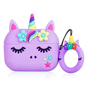 Purple Unicorn AirPod Protective Cover | Silicone