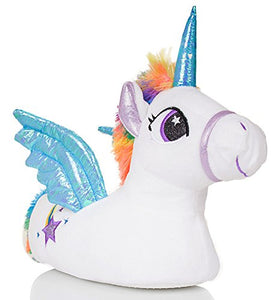Cute Ladies, Womens, Unicorn Slippers with Horn, Mane, Tail and Wings