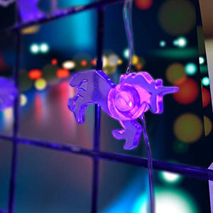 Purple Unicorn LED Fairy Lights
