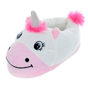 Womens Novelty Unicorn Slippers Magical Pink & White