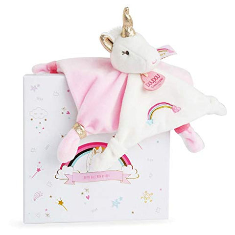 Unicorn Soft Toy Baby Comforter | Doudou et Compagnie | Baby Gift
