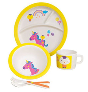 bamboo fibre unicorn set! baby playe bowl cup