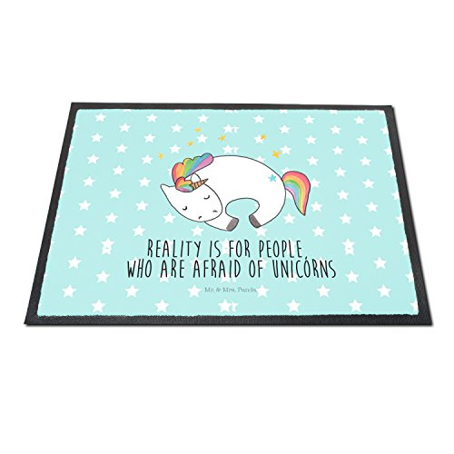 Fun Turquoise door mat for girls indoors and outdoors. Super cute!