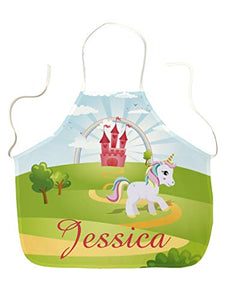 Unicorn Design Children's Apron | Personalise With Name | Ideal Gift