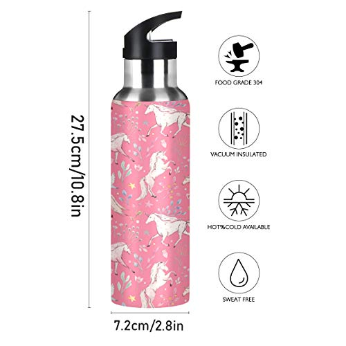 Cute Pink Unicorn Stainless Steel Design
