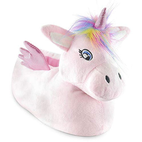 Ladies Unicorn Pink Fluffy Novelty Slipper