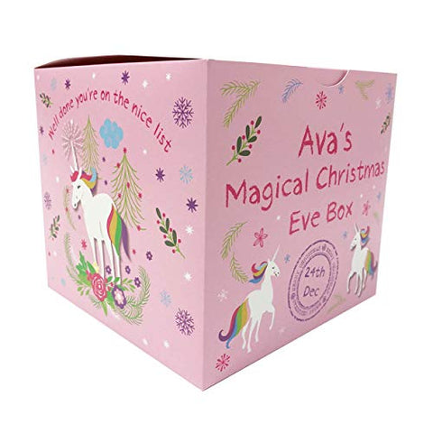 Personalised Unicorn Magical Christmas Eve Box | Pink